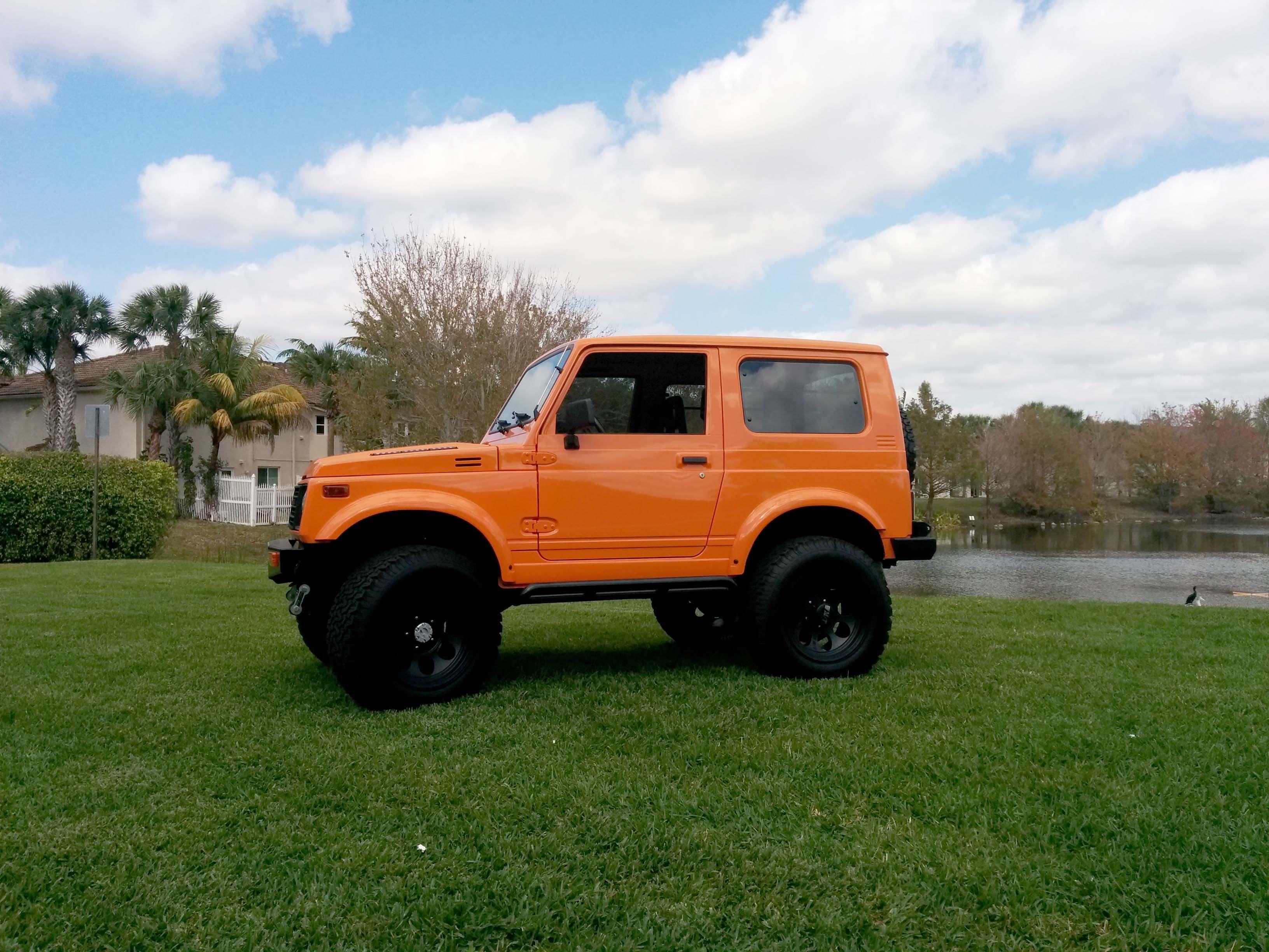 Orange Suzuki Samurai | Suzuki Samurai | Pinterest | Jeeps  Orange Suzuki S...