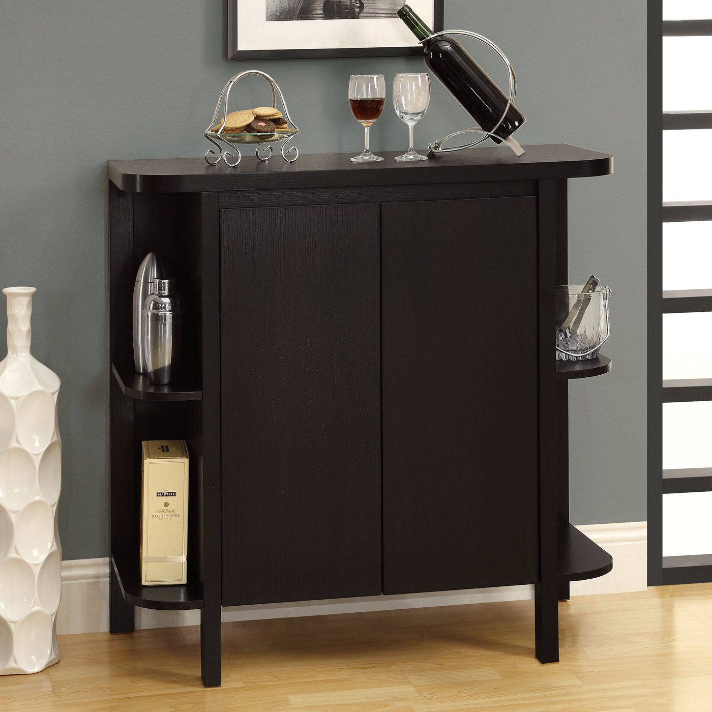 Monarch Specialties Inc I 2545 Wine Storage Bar Cabinet