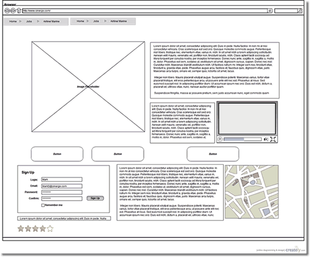 Wireframe Template Example | christmas | Pinterest | A website ...