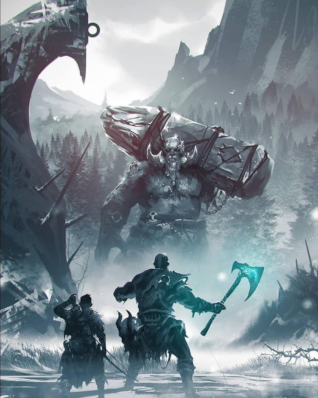 Moalins World Art Page On Instagram God Of War By Kalmahul Godofwar Artclubcommunion Comingofbe God Of War Kratos God Of War World Art