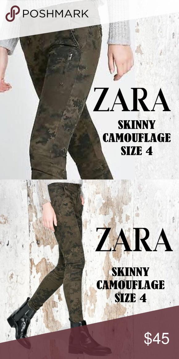 c9812a4b ZARA Camouflage Skinny Jeans US Size 4.EUR 36. MEX 26. ZARA Z1975 ...