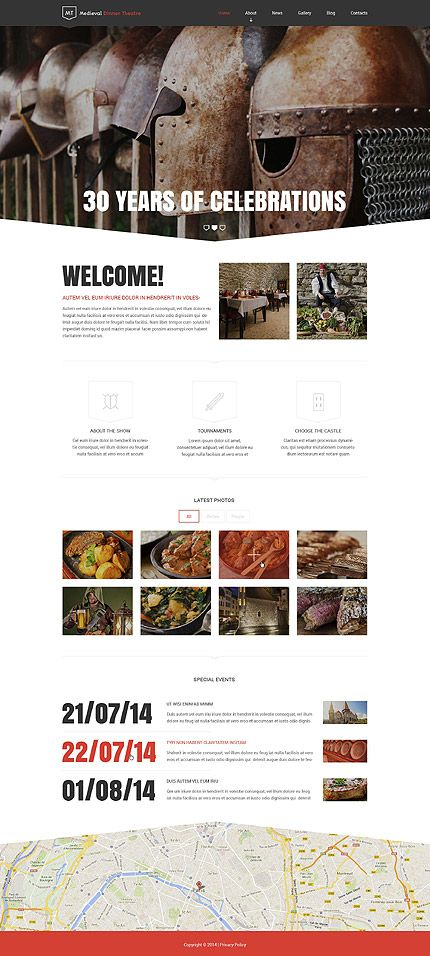 Medieval Dinner Theatre #Drupal #template. #themes #business ...