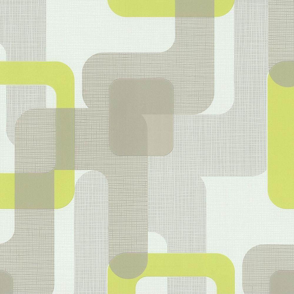 Novara Green Retro Wallpaper Paste The Wall Textured Vinyl 13460