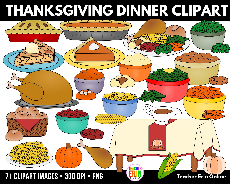 Thanksgiving Dinner Clipart Thanksgiving Clipart Feast Etsy Clip Art Thanksgiving Dinner Favorite Thanksgiving