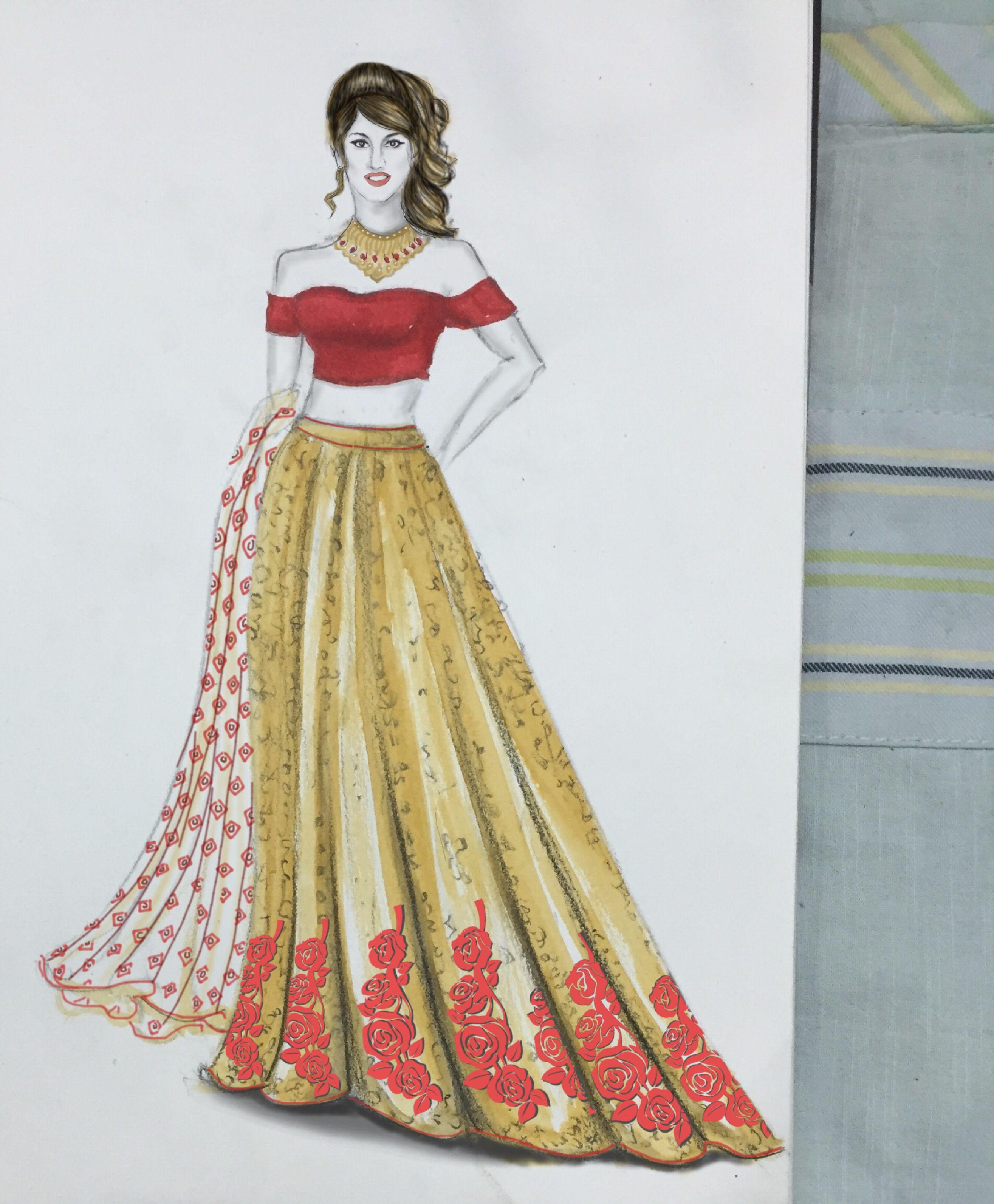 fashion illustration lehenga fashion illustration lehenga bridalwear indianbride