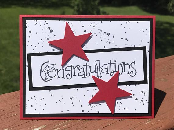 Photo of Graduation Card, Stampin up Card, Handmade Card, Graduation 2017, Commencement Card, Congratulations Card, Greeting Card, Graduation