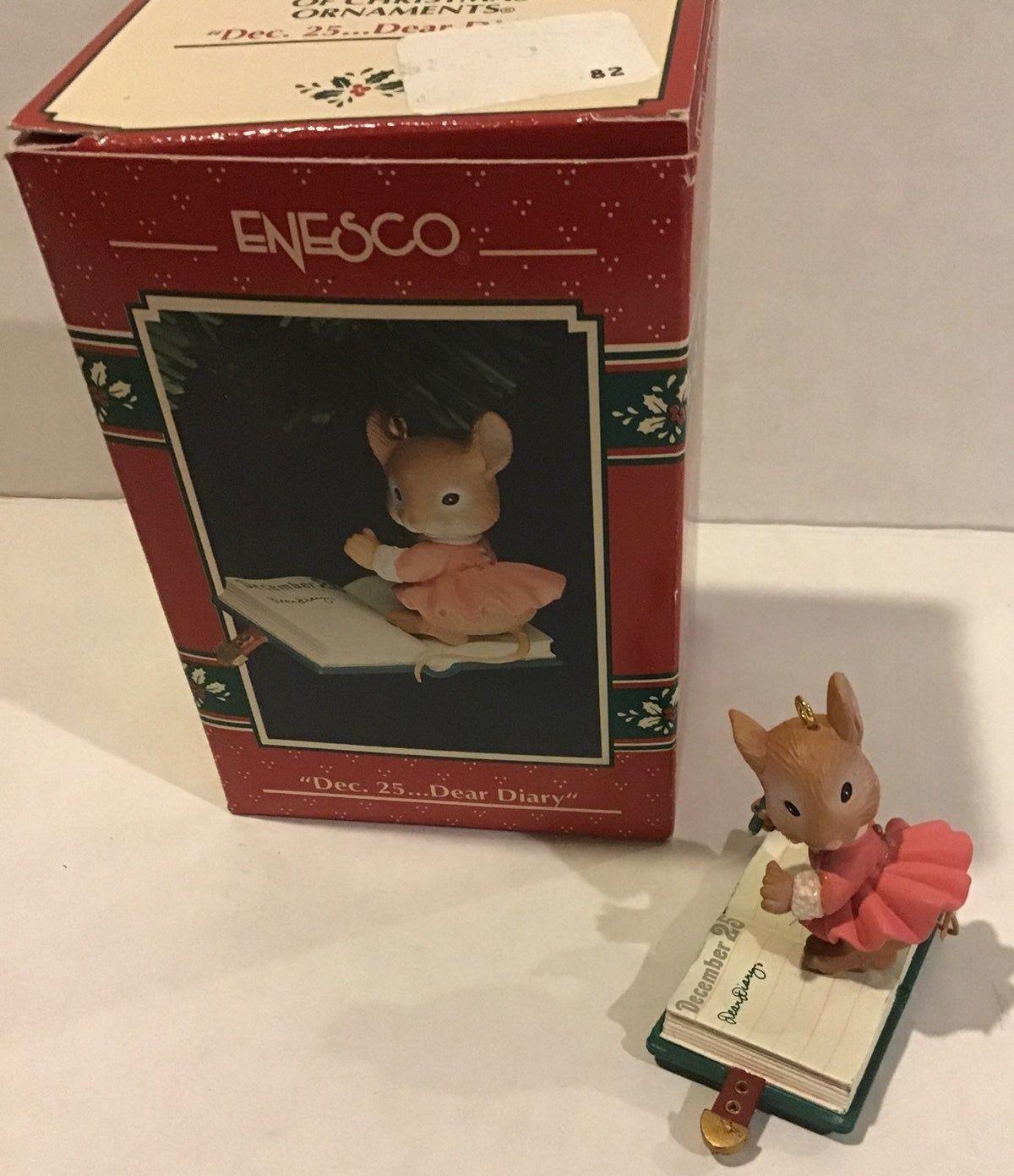 Enesco. Ornament Dec 25...Dear Diary