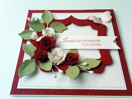 Imieninowe Zyczenia Cards Handmade Birthday Cards Flower Cards