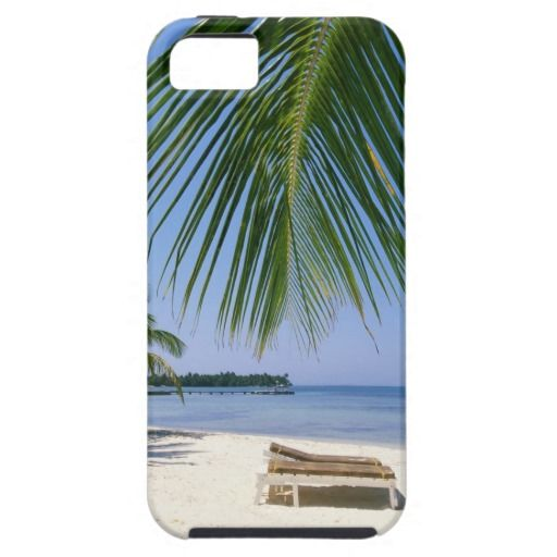 Deck Chairs on Beach iPhone 5 Covers