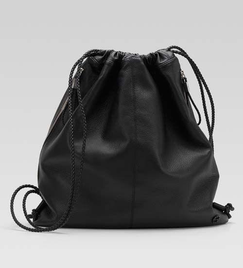 Gucci mens large black leather backpack 1 | Formal backpack ...
