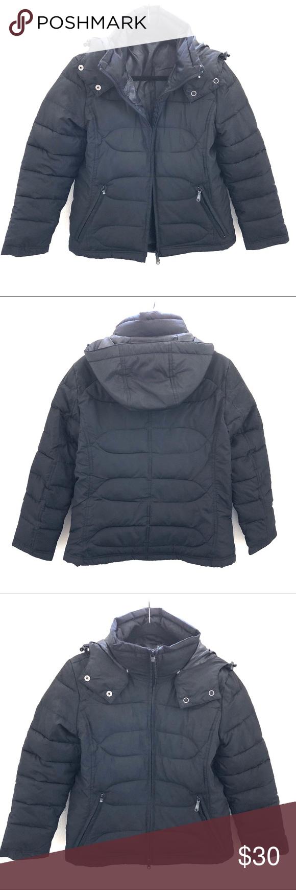 H&M Quilted Puffer Jacket Quilted puffer jacket, Black