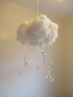 Willst Du Auf Wolke 7 Schweben? Diese DIY Deko Hängelampe Macht Es Möglich!  | Pinterest | School Hols, Tinkerbell And Diy Baby