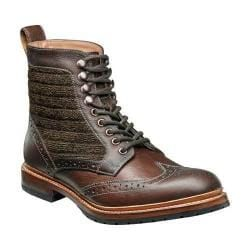 Men's Stacy Adams Madison II Wingtip Lace Boot 00077 Brown Multi Leather