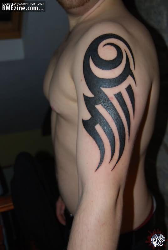Awful Man Left Half Sleeve Tribal Tattoo Tribal Arm Tattoos Cool Tribal Tattoos Tribal Tattoos
