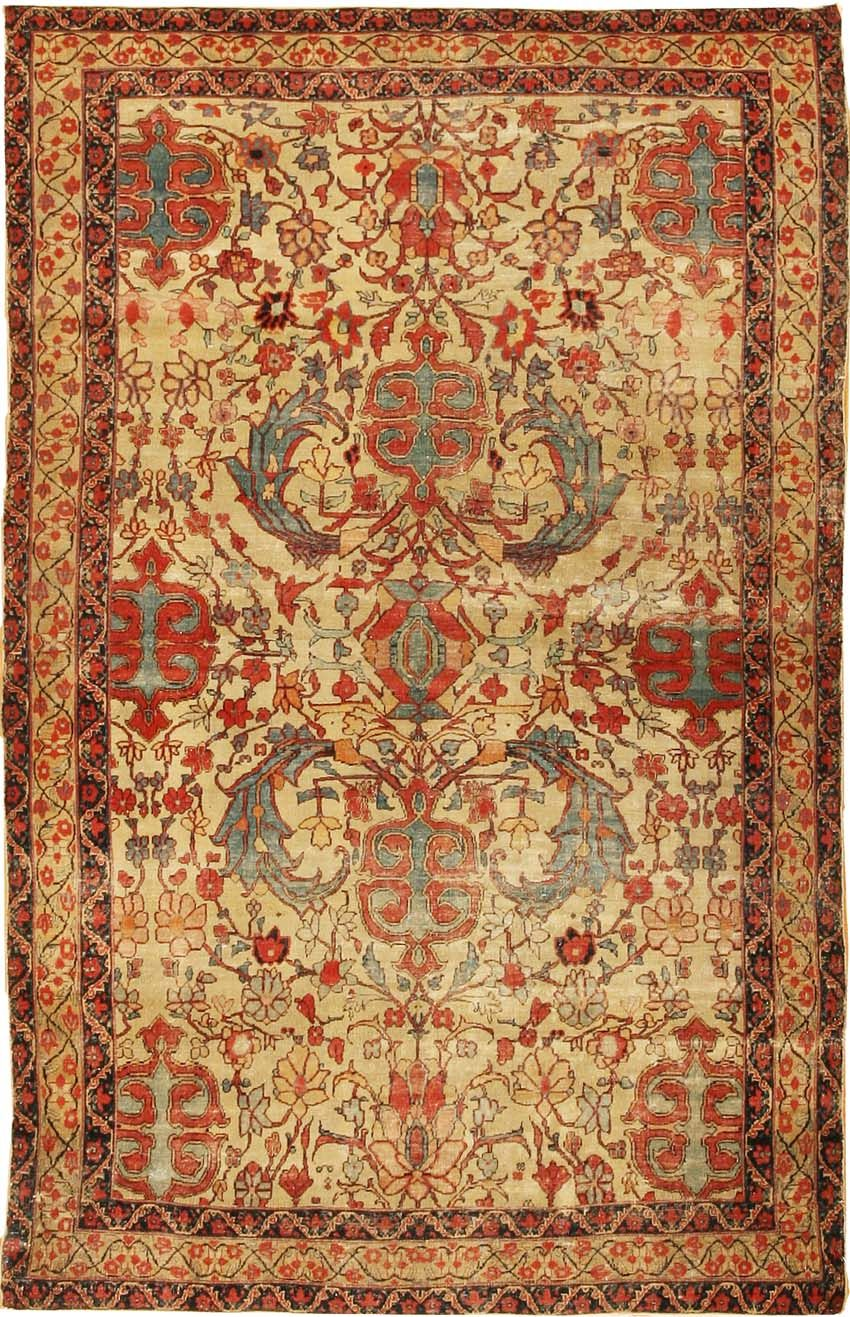 Antique Kerman Persian Rug 2357 Detail Large View By Nazmiyal