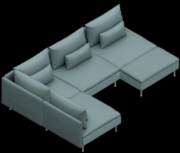 SODERHAMN custom (corner, two 1-seat, chaise). $1,018 ...