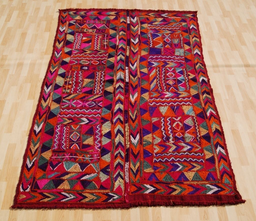Art Kilim Wool Rug: HOME DECOR WOOL ARABIC HANDWOVEN KILIM RUG 7'11x5