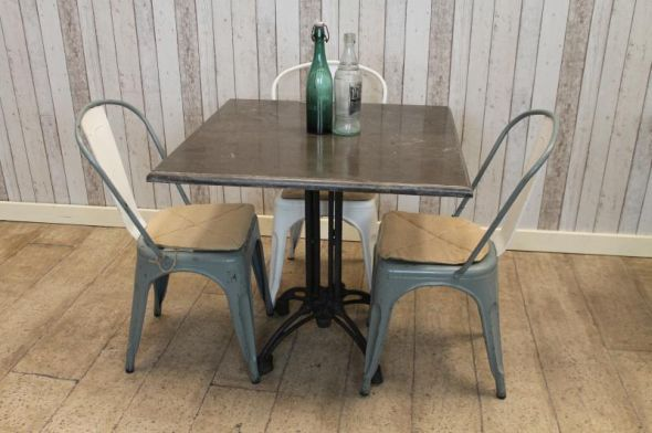 Special Offer On Our Fantastic Stone Top Square Dining Table We Now Stock A Range Of Blue Restaurant Tables With Cast Iron Bases All The
