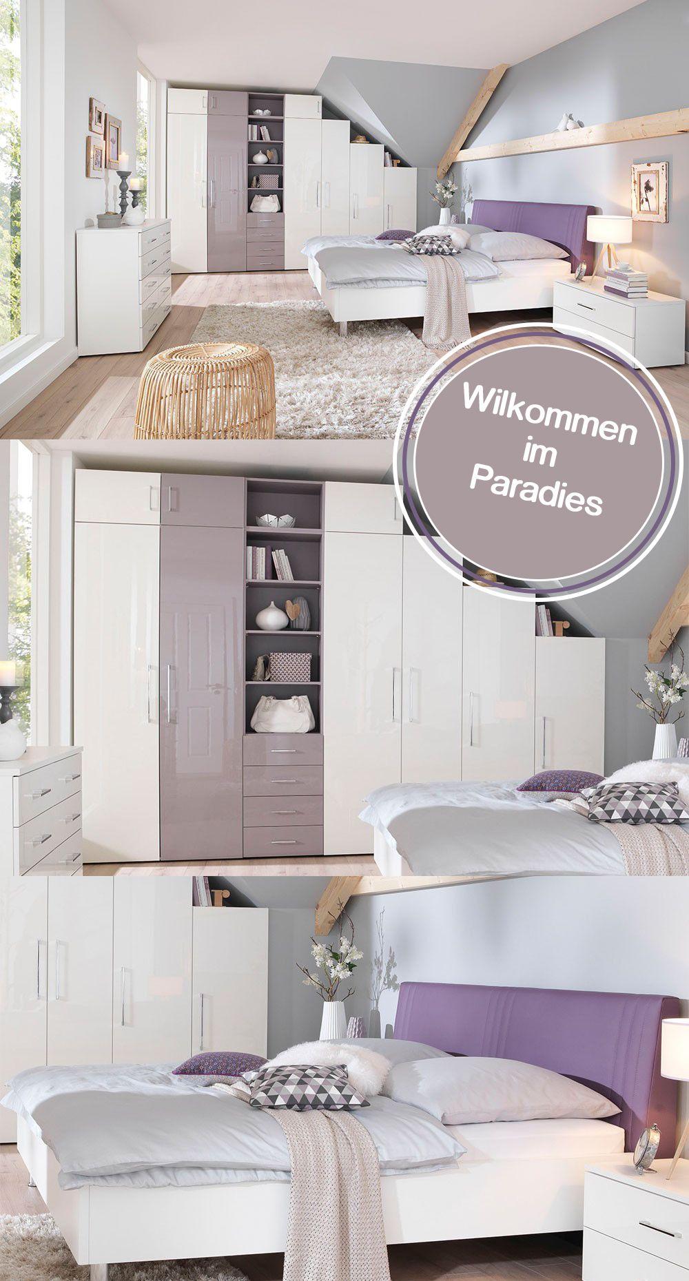KSW von Wellemöbel - Komplett-Schlafzimmer weiß - lila | Pastels ...