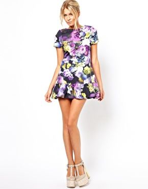 c3fb208387b2 Floral Mini Dress With Ultra Drop Waist | Fashionista | Asos petite ...