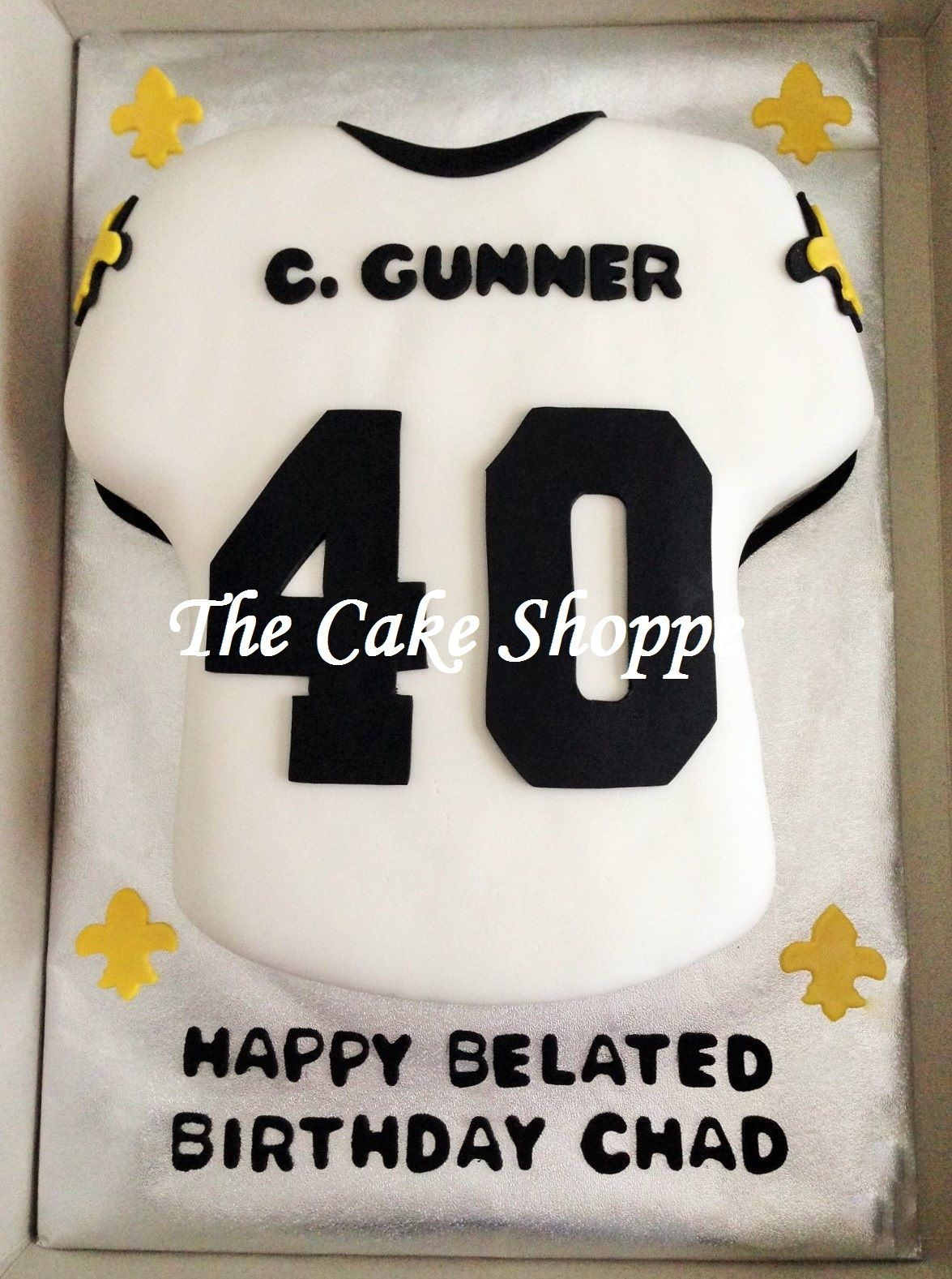 Enjoyable New Orleans Saints Jersey Cake With Images Celebration Cakes Birthday Cards Printable Trancafe Filternl