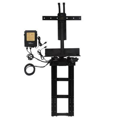 """TVLIFTCABINET, Inc TV Swivel Lift Mechanism Pole Mount for 13""""- 30.5"""" Tall Flat/Curved Panel"""