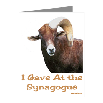 This Funny Jewish New Year Card Pictures A Ram With A Missing Horn