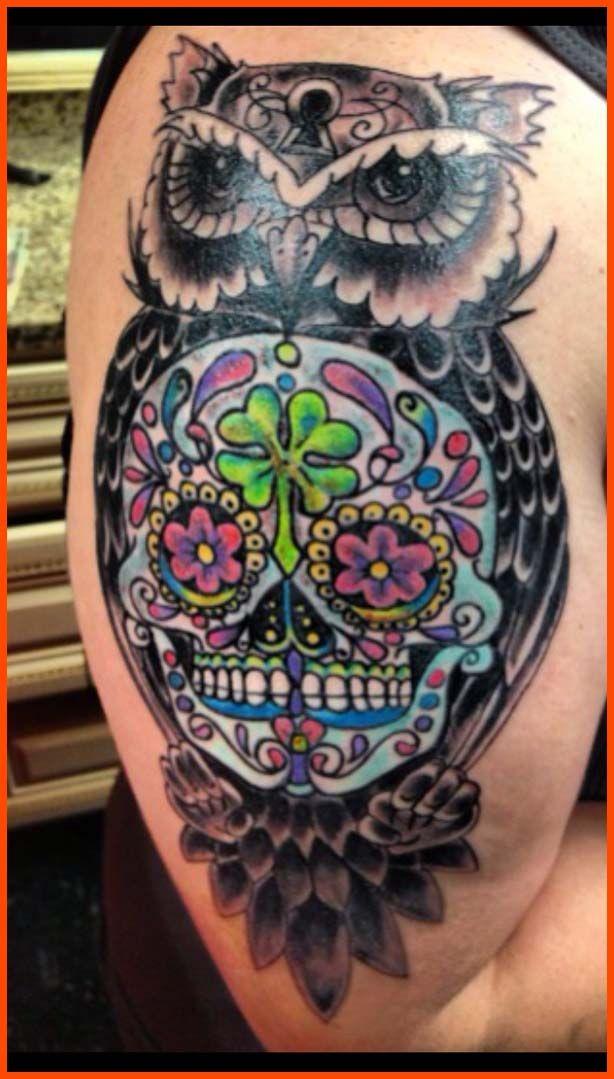 Sleeve sugar skull owl tattoo tattoos pinterest for Owl and sugar skull tattoo