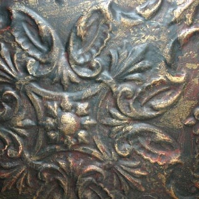 How To Paint And Distress Tin Ceiling Tiles Ehow Faux Tin Ceiling Tin Ceiling Tin Ceiling Tiles