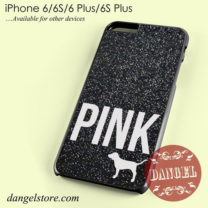 another chance 218e9 a7cef Black Glitter Victoria's Secret Phone case for iPhone 6/6s/6 Plus/6S ...