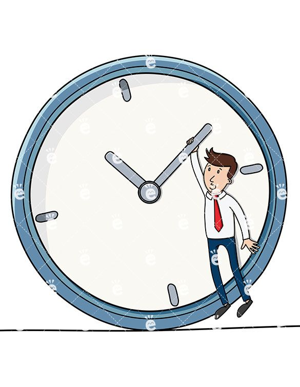 A Businessman Holding On To One Hand Of A Huge Clock Royalty-free