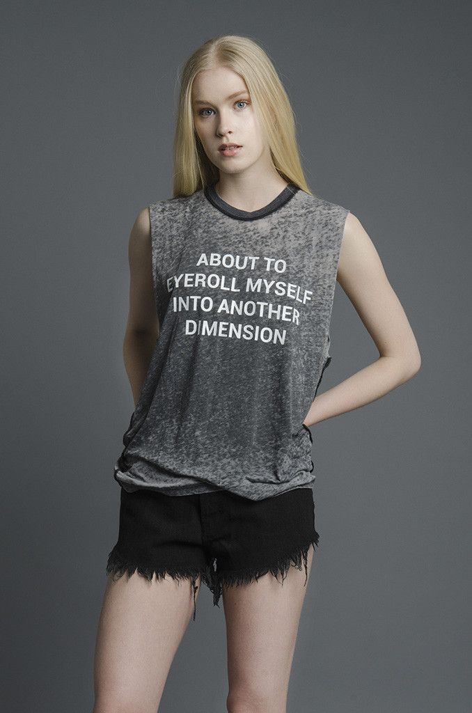 Eyeroll Burnout Muscle Tee