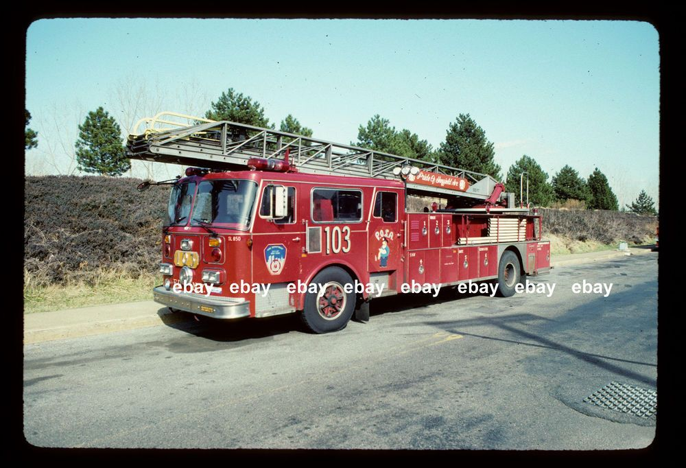 New York City Ladder 103 1985 Seagrave 100' Rearmount Fire