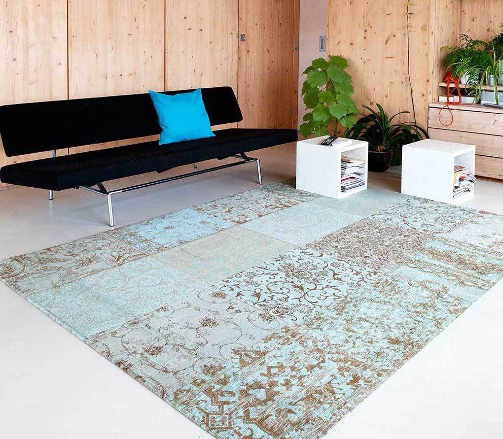 patchwork vloerkleed #grijs gemeleerd #woonkamer #slaapkamer #design ...