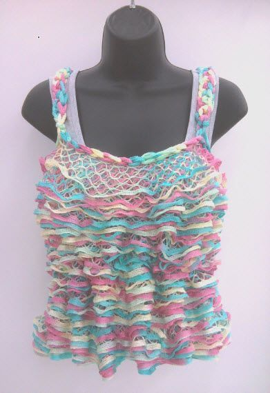 Premier Yarns Starbella Yarn Tank Top Sashay Yarn Sashay Yarn
