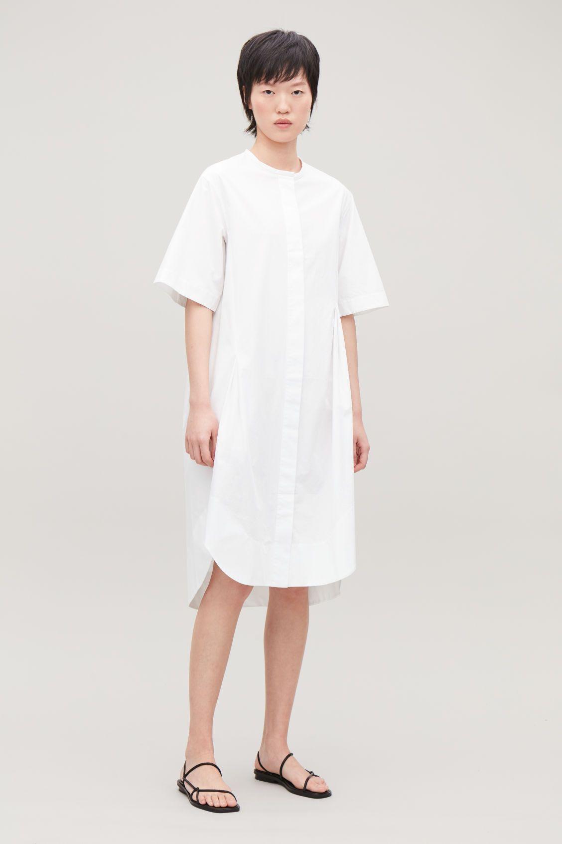 Productpage | White tshirt dress, Shirt dress, Grandad shirts