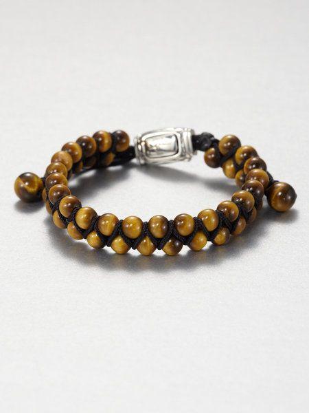 Silver DAGAZ Rune bead bracelet Tiger eye bracelet.