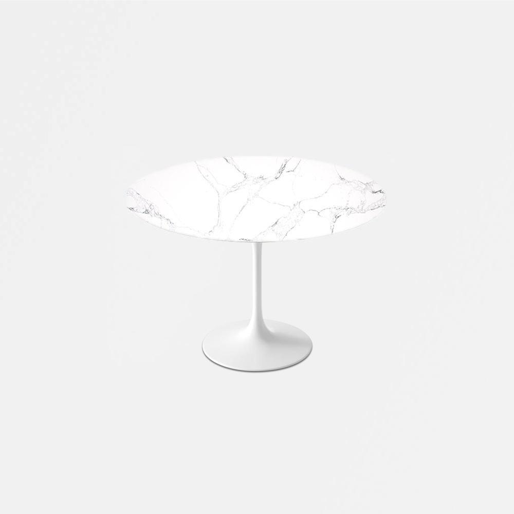 Statuario Venato Calacatta Quartz Tulip Dining Table Round Tulip Dining Table Tulip Table Dining Table Height [ 1000 x 1000 Pixel ]