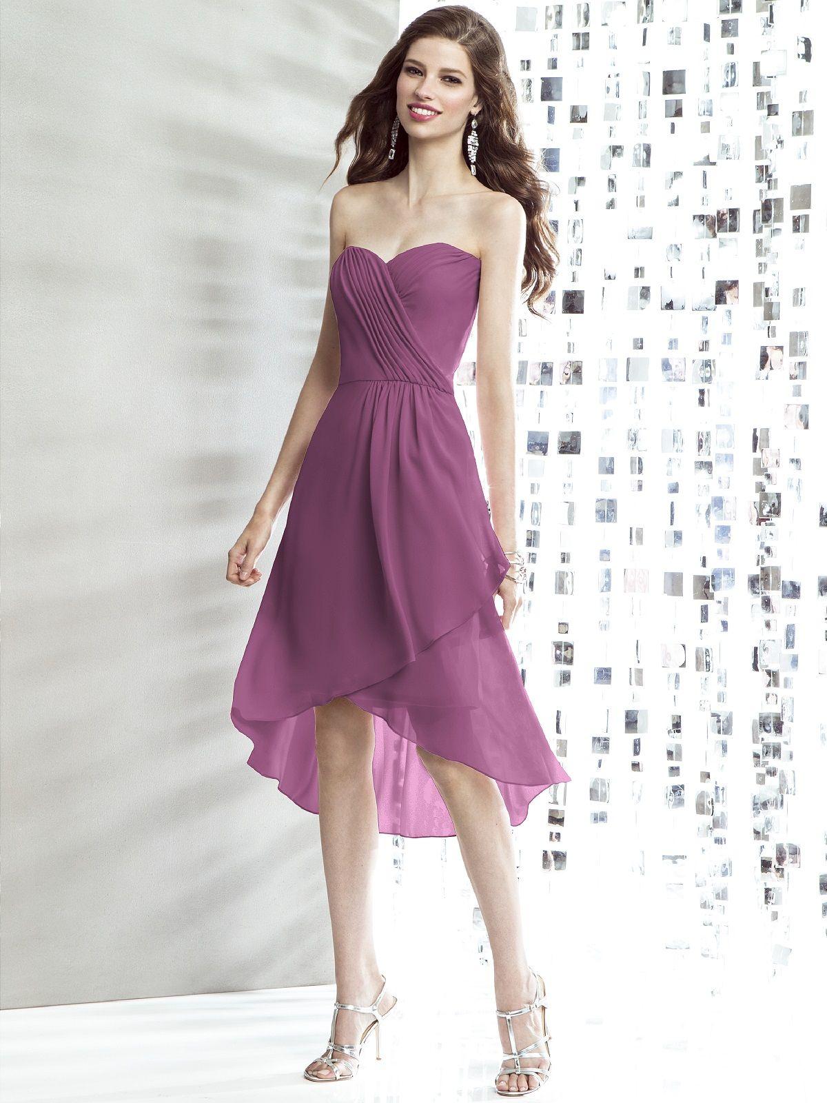 Atractivo Borgoña Vestidos De Dama De Color Rojo Friso - Ideas de ...
