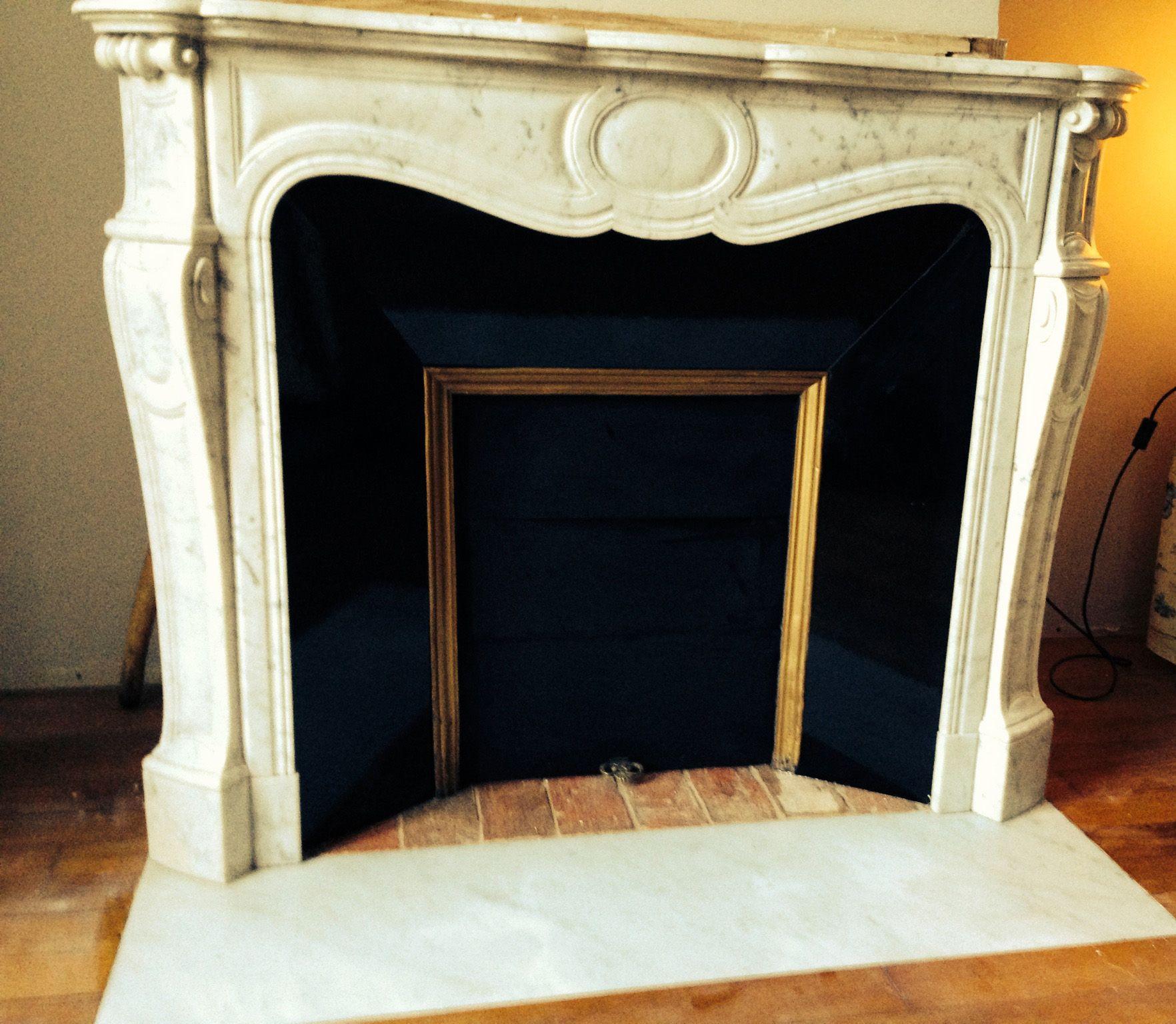 Petit Insert Pour Cheminée Ancienne pose d'une cheminée pompadour avec intérieur émaillé noir