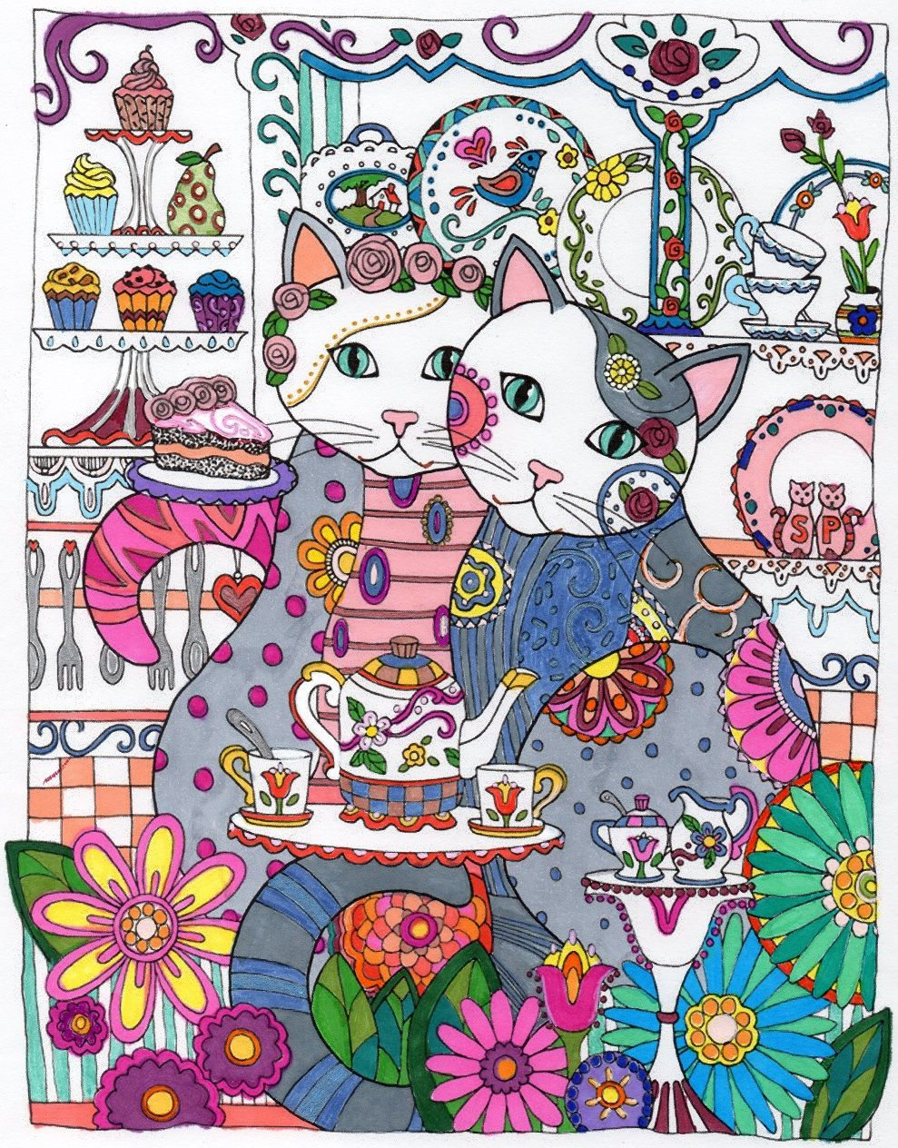 Original drawing from Creative Cats by Marjorie Sarnat | Chats ...