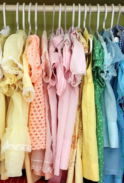 Closet full of pretty vintage dresses @Katie Hrubec Hrubec grasso you'll like this too...