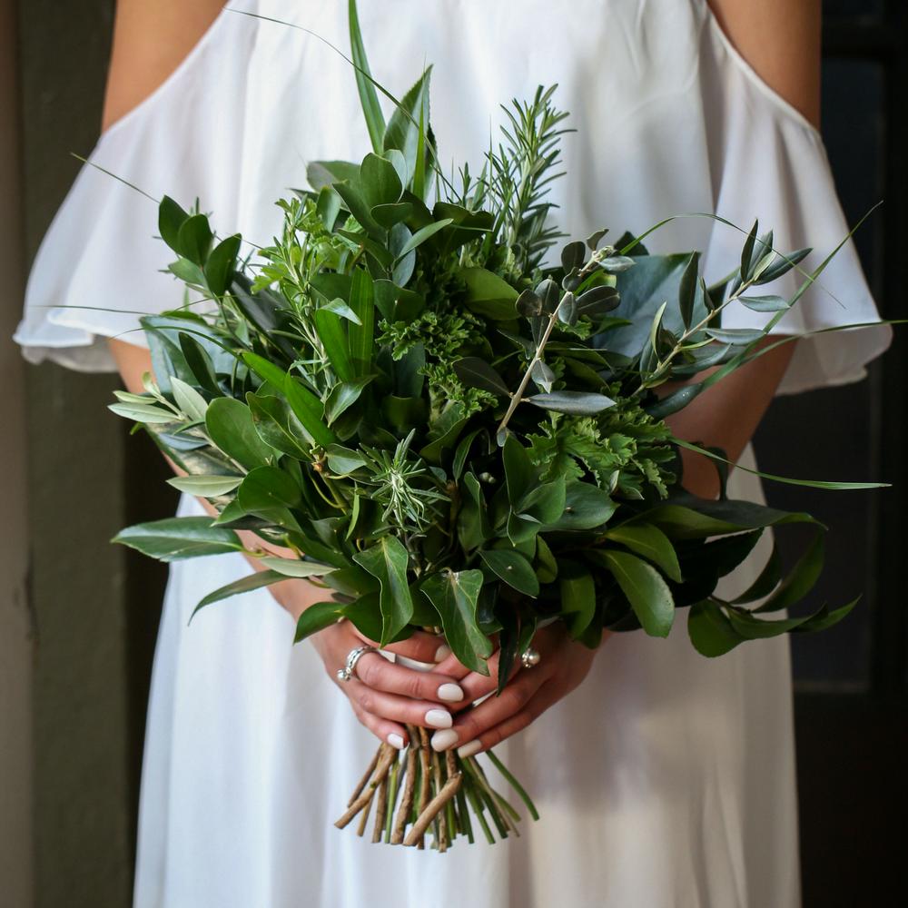 Green Foliage Wedding Bouquet Diy Flowers By Wild In Love