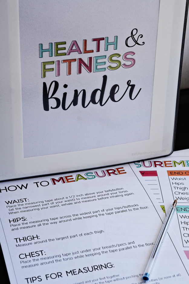 #thirtyhandmadedayscom #printables #printable #fitness #journey #health #binder #print #over #help #...