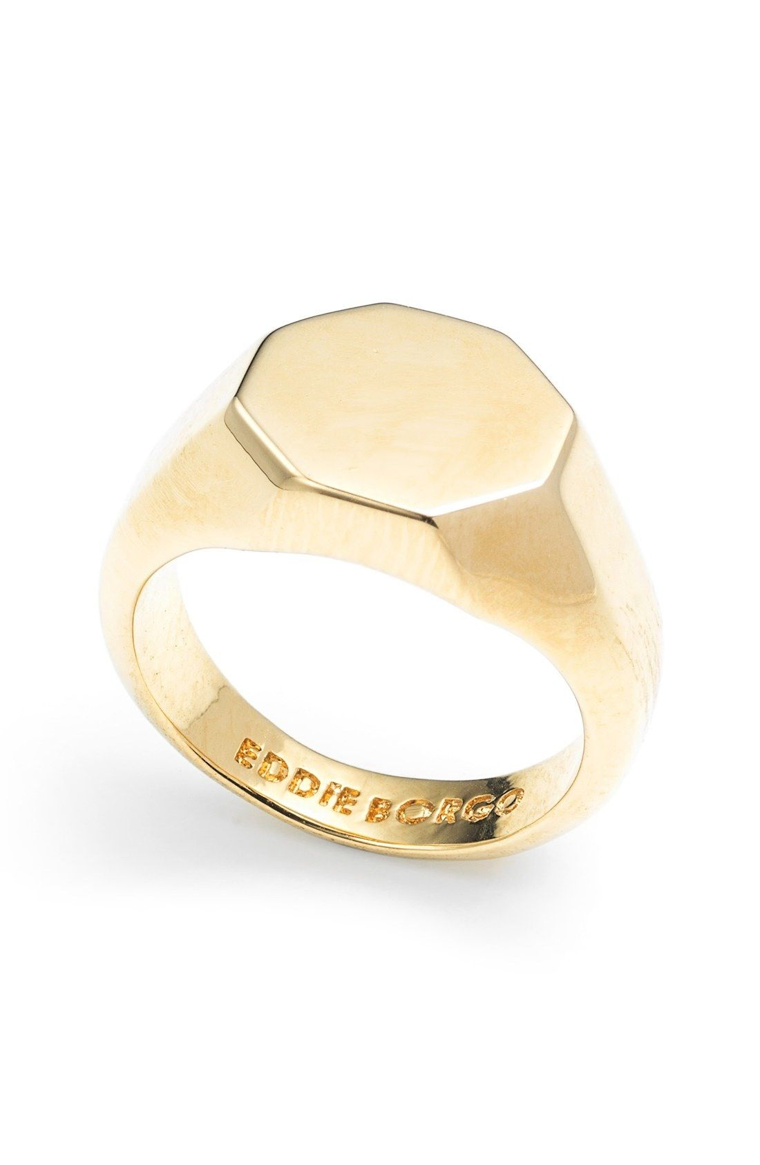 a2d97407 Octagon Signet Ring | signet ringe inspiration | Rings, Signet ring ...