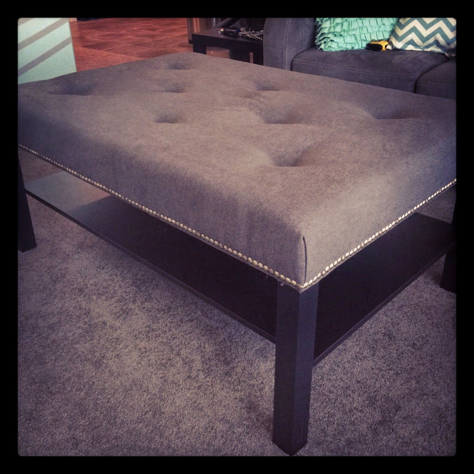 Merveilleux Ikea Coffee Table To Tufted Ottoman Tutorial