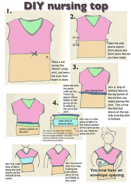 Diy Nursing Top Tutorial Turn A T Shirt Into A Nursing Top Flickr Maternity Sewing Diy Nursing Diy Maternity Clothes