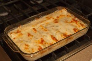 White Chicken Enchiladas originally found on Pinterest, but improved by Elizabeth!