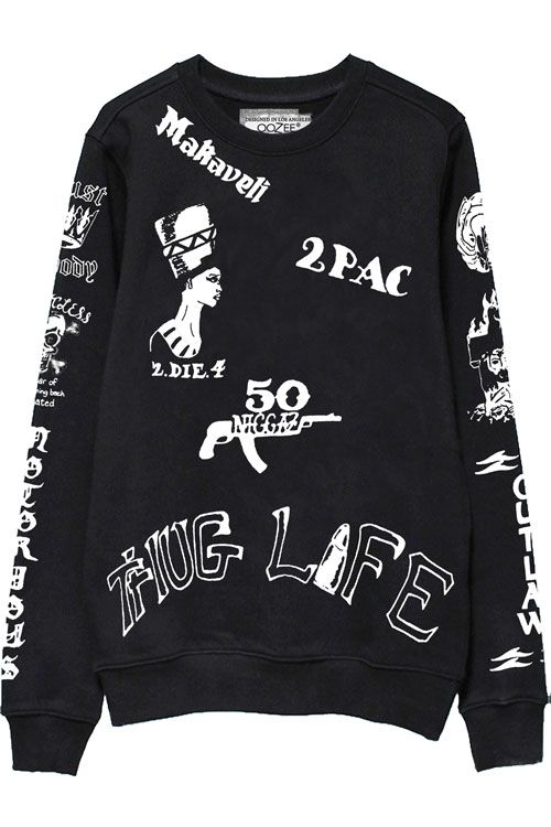 0be462cfeb8 2pac Tattoo Sweatshirts Front