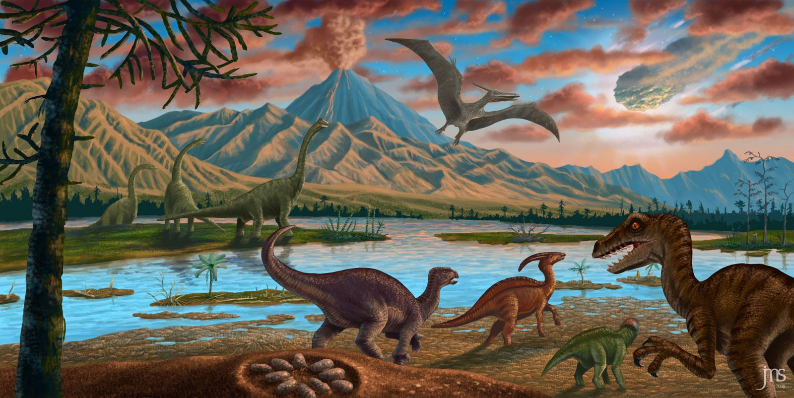 Image result for dinosaur landscape